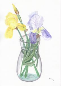 Vase with Yellow and Purple Irises 2019-06-08